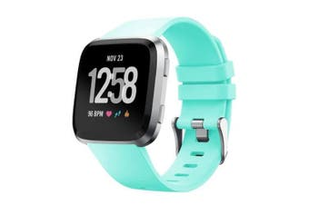 For Fitbit Versa/Lite/Versa 2 Replacement Band Wristband Silicone Sports Watch Aqua (6.5 to 8.7)