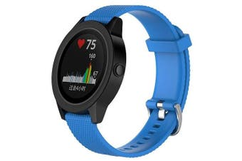For Garmin Vivoactive 3 Replacement Band Wristband Silicone Sports Watch (Sky Blue-Large Size)
