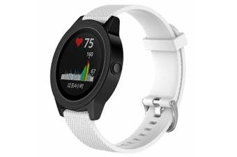 For Garmin Vivomove HR Replacement Band Wristband Silicone Sports Watch (White-Large Size)