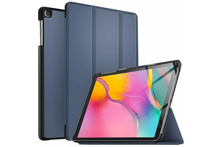 For Samsung Galaxy Tab A 10.1 2019 Cover, Tab SM-T510 / T515 Case Folio Leather Smart Magnetic Flip Stand Case Cover (Navy Blue)