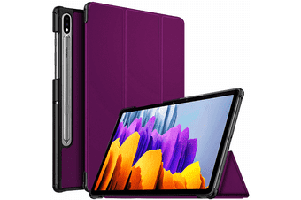 """For Samsung Galaxy S7 11"""" Folio Leather Smart Magnetic Flip Stand Case Cover (Purple)"""