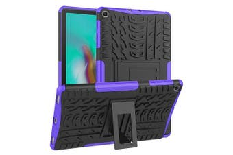 For Samsung Galaxy Tab S5e Case, SM- P720 / P725 Kickstand Shockproof Heavy Duty Tough Protective Rugged Cover (Purple)