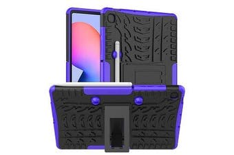 For Samsung Galaxy Tab S6 Lite Case, Tab SM- P610 / P615 Kickstand Shockproof Heavy Duty Tough Protective Rugged Cover (Purple)