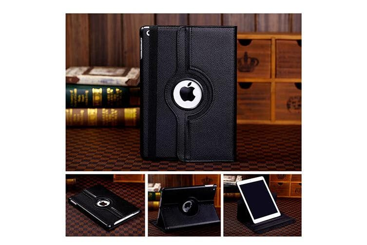 For Apple iPad Mini 4 / 5 Cover, 4th 5th Gen Generation 7.9 Leather Smart 360 Rotate Flip Stand Case Cover (Red)