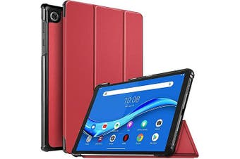 For Lenovo Tab M10 FHD Plus Cover, Tab 10.3 2nd Gen TB-X606F / X606 Folio Leather Smart Magnetic Flip Stand Case Cover (Red)