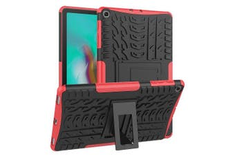 For Samsung Galaxy Tab S5e Case, SM- P720 / P725 Kickstand Shockproof Heavy Duty Tough Protective Rugged Cover (Red)