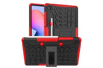 For Samsung Galaxy Tab S6 Lite Case, Tab SM- P610 / P615 Kickstand Shockproof Heavy Duty Tough Protective Rugged Cover (Red)