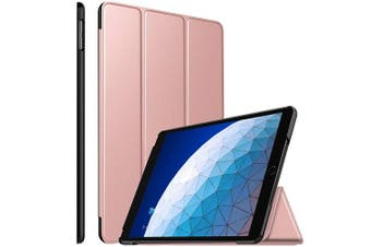 For Apple iPad Air 3 Case, Air 3rd Gen 10.5 2019 Cover Folio Leather Smart Magnetic Flip Stand Case Cover (Rose Gold )
