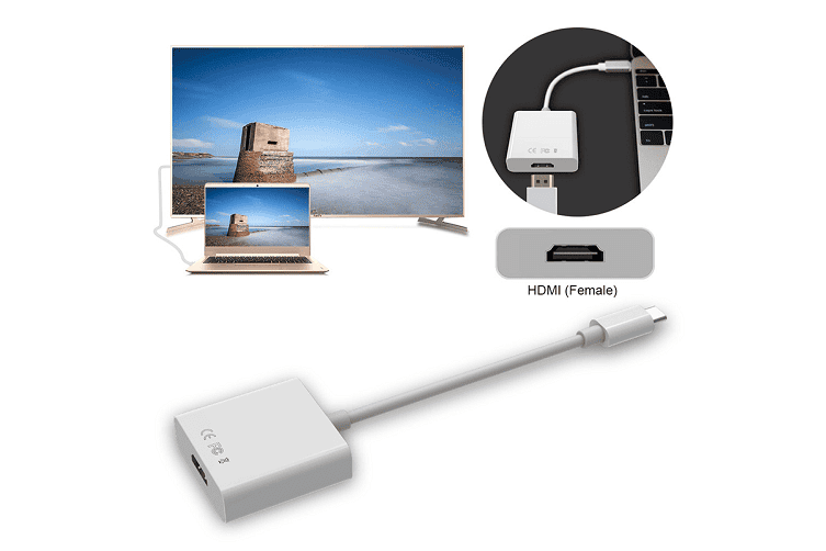 USB C Type C to HDMI Adapter Adaptor for Macbook /Chromebook /MacBook (Silver)