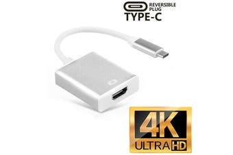 USB Type C 3.1 Male to HDMI Female HDTV 1080p Adapter Cable (Silver)