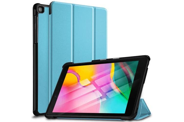 For Samsung Galaxy Tab A 8.0 2019 Cover, Tab SM-T290 / T295 Case Folio Leather Smart Magnetic Flip Stand Case Cover (Sky Blue)