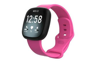 For Fitbit Sense Replacement Band Wristband Silicone Sports Watch (Teal-Small Size)