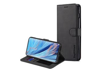 For Oppo Find X2 Neo SupRShield Wallet Leather Flip Magnetic Stand Case Cover (Black)