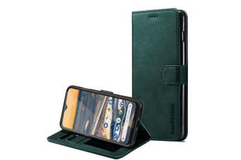 For Nokia 5.3 Case, SupRShield Wallet Leather Flip Magnetic Stand Case Cover (Matte Green)