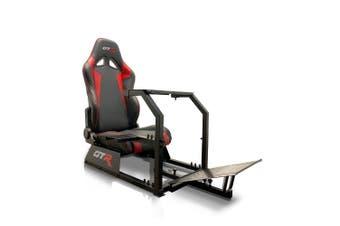 GTR Simulator GTA Racing Simulator Cockpit - Black & Red Seat