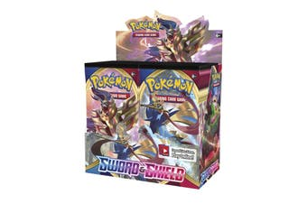 POKEMON TCG Sword and Shield Booster Box Sealed 36 Booster Packs