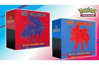 POKEMON TCG Sword and Shield Booster Box + Zacian & Zamazenta Elite Trainer Box