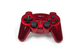 3rd Earth Bluetooth Wireless PS3 Controller (Red)
