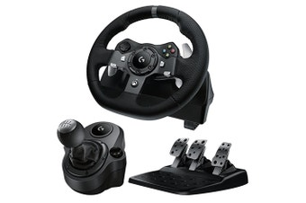 Logitech G920 Driving Force Racing Wheel for Xbox One / PC + Logitech Driving Force Shifter