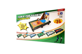 Table Top Games: 6 Games In 1 Set