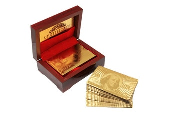 Gold Playing Cards in a Box