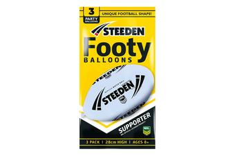 Steeden White Oval Football Balloons (3 Pack)