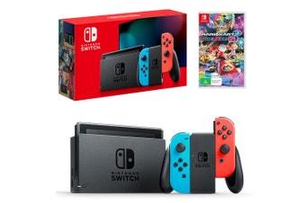 Nintendo Switch Neon Joy-Con Console with Mario Kart 8 Deluxe Bundle