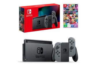 Nintendo Switch Grey Joy-Con Console with Mario Kart 8 Deluxe Bundle