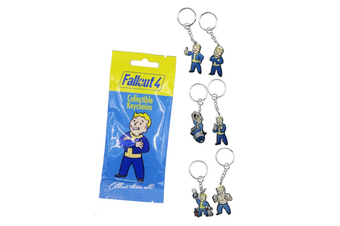 Fallout 4 Collectible Vault Boy Keychains Bling Bag