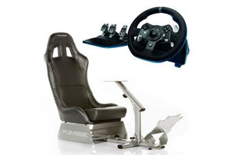 Playseat Evolution (Black) with Logitech G920 Racing Wheel Bundle