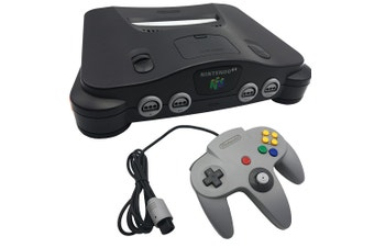 Nintendo 64 Charcoal Black Console (Grade B) [Pre-Owned]