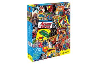 DC Comics Superman Retro Collage 1000 Piece Jigsaw Puzzle
