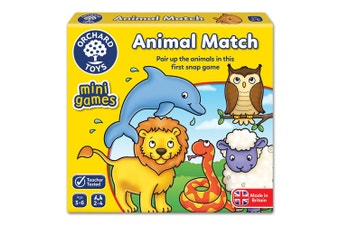 Animal Match Card Game