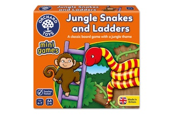 Jungle Snakes and Ladders Board Game
