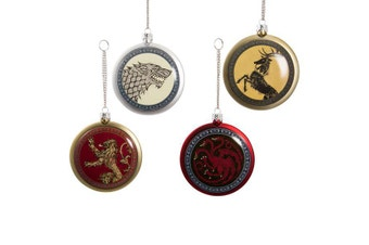 Game of Thrones: House Logo Christmas Ornament 4 Pack
