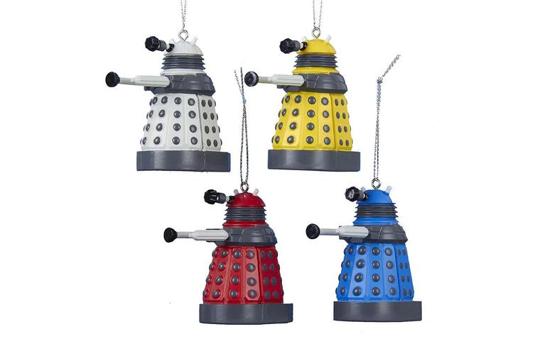 Doctor Who Dalek Christmas Ornament 4 Pack
