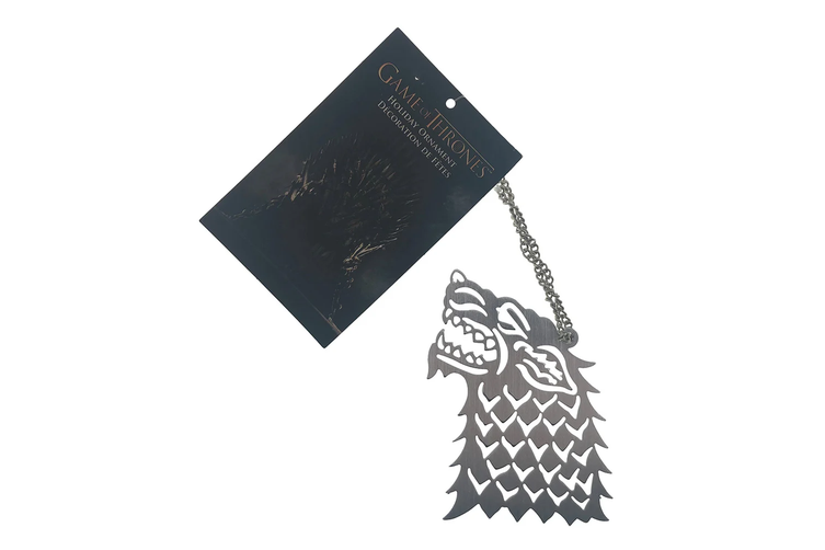 "Game of Thrones Stark Wolf 4"" Christmas Ornament"
