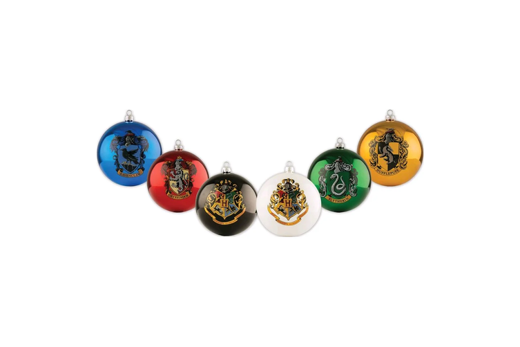 Harry Potter House Crest Bauble's 6 Pack