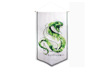Harry Potter Slytherin Watercolour Satin Banner