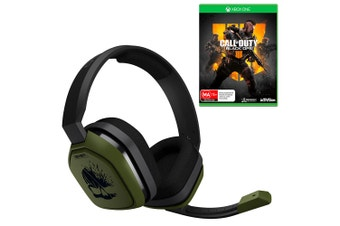 ASTRO A10 Call of Duty: WWII Wired Gaming Headset with Call of Duty: Black Ops 4 Bundle