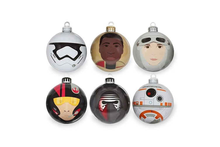 Star Wars The Force Awakens Christmas Baubles