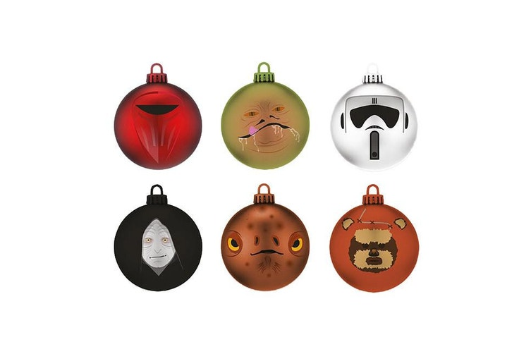 Star Wars Return of the Jedi Christmas Baubles