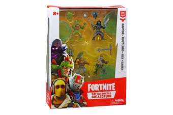Fortnite Battle Royale Collection: Raptor, Rust Lord, Red, Raven Figures