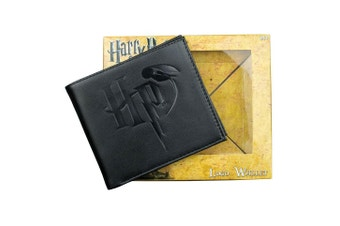 Harry Potter Logo Embossed Black Wallet