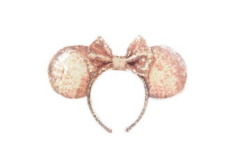 Original Minnie Mouse Sequin Rose Gold Headband