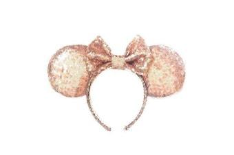 Original Minnie Mouse Sequin Rose Gold Headband
