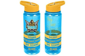NRL Gold Coast Titans Drink Bottle with Wristbands