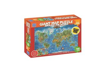 Blue Opal Around the World Giant Map 300 Piece Jigsaw Puzzle