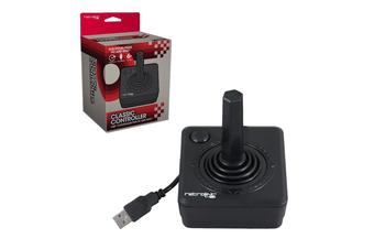 Retro-Bit Wired Atari Style Controller for PC & Mac (Black)