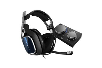 ASTRO A40 TR Gen 4 Wired Headset (Black/Blue) for PS4, PC & Mac